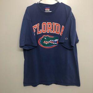 Champion  Florida Gators graphic t shirt blue 2XL